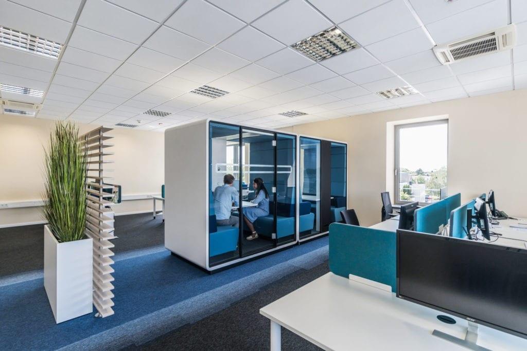 Stille im Büro mit der Bürobox