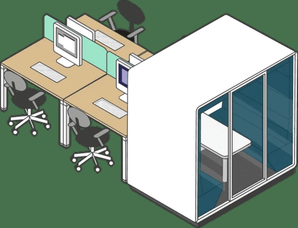 Arbeitstisch für das Büro